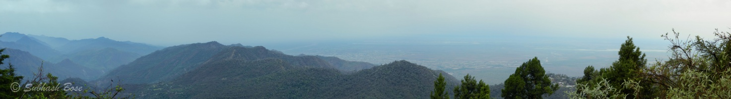 Panaromic view towards Haldwani from ARIES