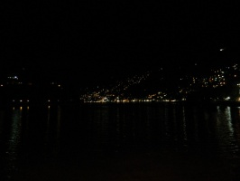 Night view of nainital lake