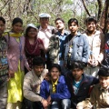 Group photo in jungle