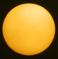Sun with Sunspot
