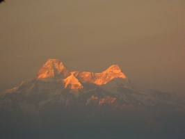 Nandadevi in rays of setting sun.