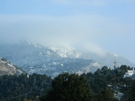 Snow covered Nainital